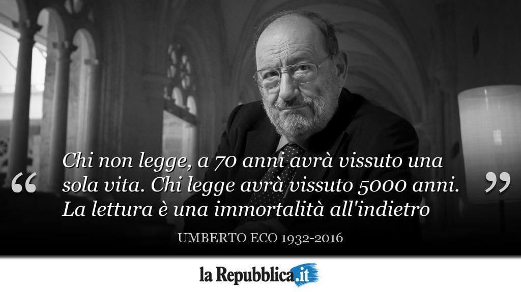 Foto Umberto Ecos in der la Repubblica