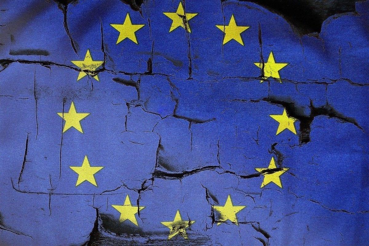 Flagge des Europarats und der EU