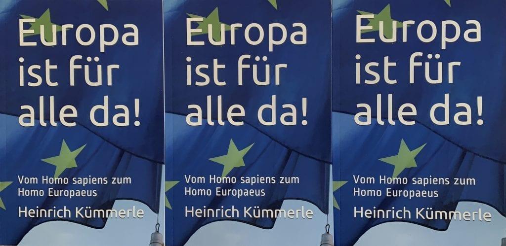 Drei Bucheinbände von Europa ist für alle da!